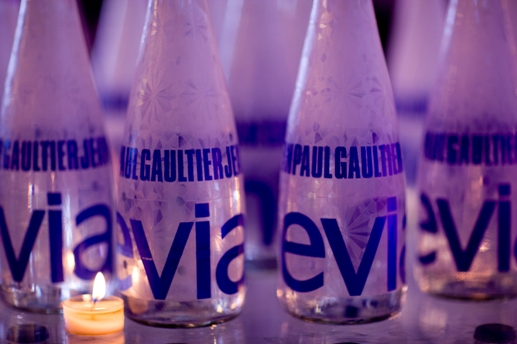 Evian on display at the event