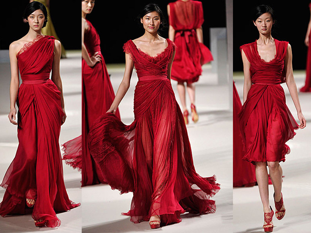 Paris fashion week aiisha 39 s colors for Haute couture red